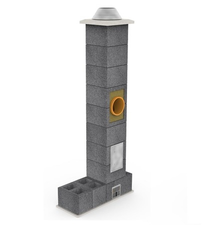 System kominowy KRUK UNIVERSAL 14M - poczwórna wentylacja - trójnik 90°