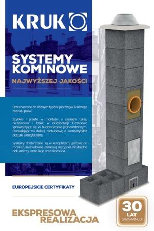 System kominowy KRUK UNIVERSAL 16M - potrójna wentylacja - trójnik 90°