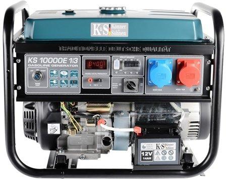 Agregat prądotwórczy KONNER & SOHNEN KS 10000E 1/3 + Olej + Zestaw Transportowy